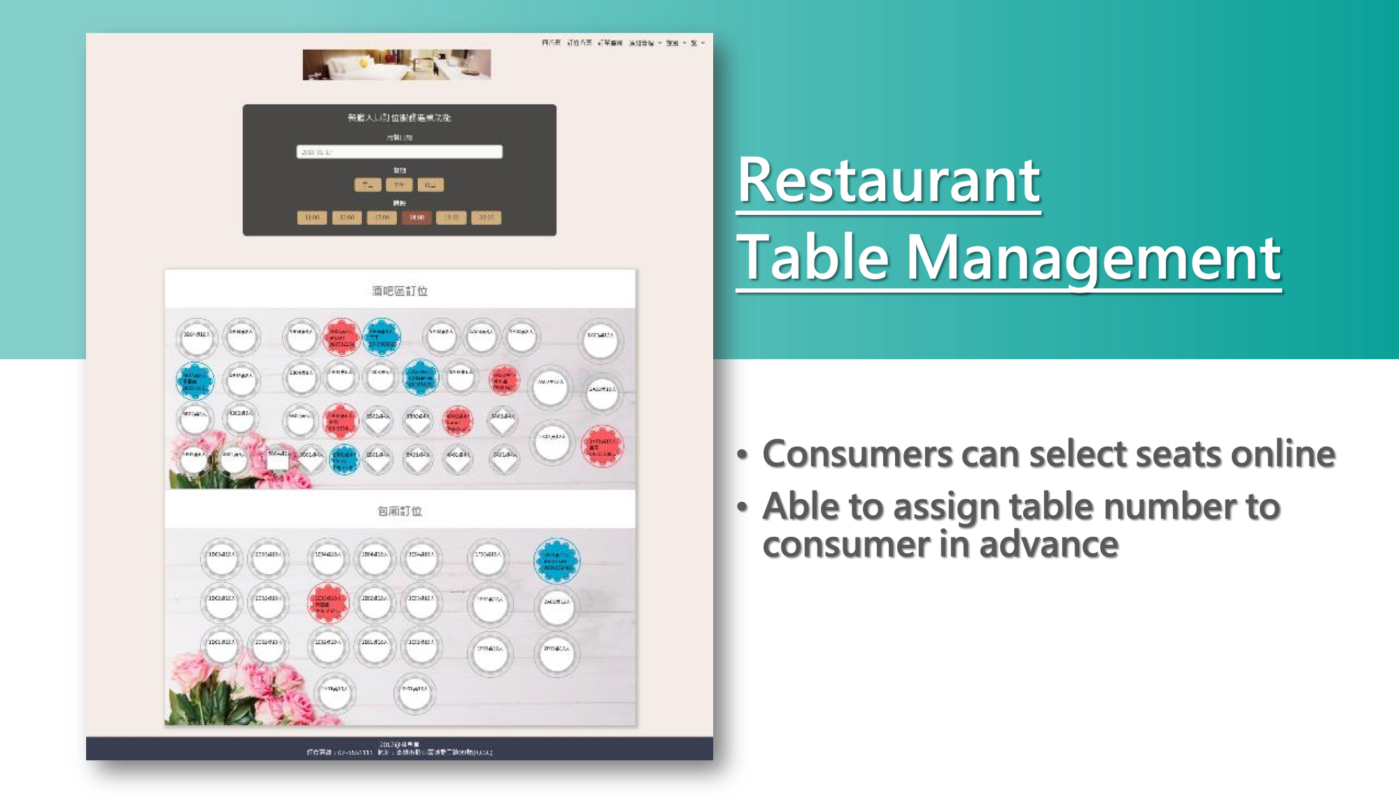 Athena Web Table - Restaurant Table Management
